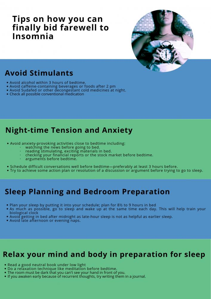 Tips to help improve sleep